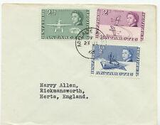 BRITISH ANTARCTIC TERRITORY 1966 QEII 1/2, 2 + 2 1/2 D VFU Cover ADELAIDE ISLAND