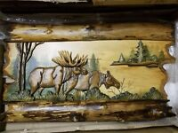 Animal Wood Carving Wall Art Wall Hanging Cabin Décor
