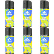 6 x 150ml Adidas Get Ready Deo Deospray Deodorant Bodyspray Deo Spray Parfüm