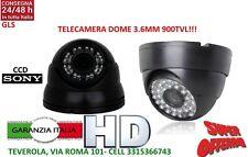 MINI DOME TELECAMERA 3,6 MM VIDEOSORVEGLIANZA SONY HD 24 LED INFRAROSSI 900TVL