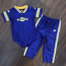 Adidas Los Angeles Lakers 2 Piece Suit Jersey On-site And Pants - 24M