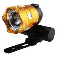 Luz delantera de bicicleta impermeable LED T6 recargable USB Lampara luz K4J5