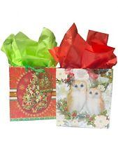 Punch Studio 62491-64705 Set 2 Medium Gift Bags 3D Glitrer & Gem Embellished