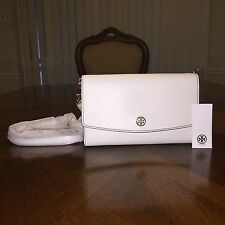 NWT Tory Burch Parker Chain Wallet In Ivory/Mango