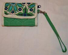 Cinda B Cartera Brazalete Azul Verde Geométrico Art Déco Estampado