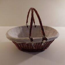 Panière fait main handmade basque osier wicker art déco vintage XXe France