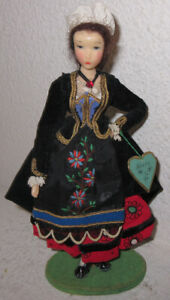 Antique or Vintage Wax Doll - Made In Germany - With  Bearn Tag