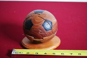 Soccer Ball Wood Puzzle Brain Teaser. Sports Collectible