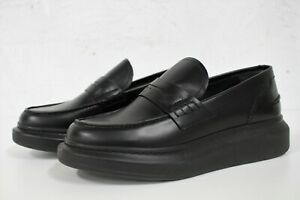 ALEXANDER MCQUEEN Glossed Leather Exaggerated Sole Loafers Size 39