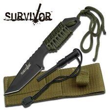 "Survivor HK-106320 Green Outdoor Fixed Blade Knife 7"" Overall"