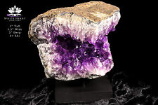 """Amethyst Geode Cluster From Uruguay - 5"""" With Cut Base #2 + Free Gift"""