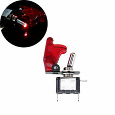 Racing Car DC 12V Ignition Switch Panel Red LED Engine Start Push Button Toggle