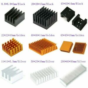 8.8mm to 200mm Aluminum Heat Sink Heatsink Thermal Cooling Blade 3-Colour,CPU IC