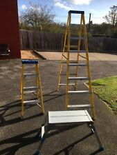 Youngman fibreglass heavy duty 6 tread step & 3 Tread Step Ladders & Hop Up.