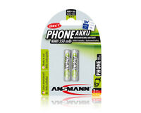 2 x ANSMANN maxE  PHONE POWER ACCU MICRO AAA 1,2 V  550 mAh TELEFON NEU