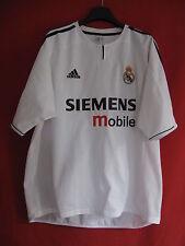 Maillot Real Madrid ADIDAS 2003 Blanc Siemens Mobile Vintage - XL