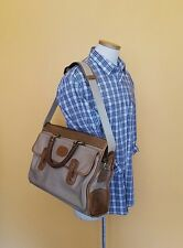 "Vintage Marley Hodgson Ghurka No. 17 ""The Satchel"" Canvas & Leather Shoulder Bag"