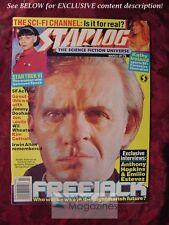 STARLOG March 1992 #176 FREEJACK ANTHONY HOPKINS KIM CATRALL WIL WHEATON