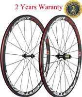 Superteam 38mm 700C Carbon Bike Clincher Wheels Bicycle Wheelset Touring Wheels