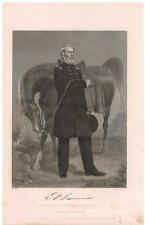 Edwin Vose Sumner 1864 Steel Engraving Print Union Army general Bull Head