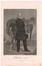 Edwin Vose Sumner 1864 Steel Engraving Print Union Army general Bull Head