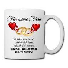 """Tasse """"Für meine Frau"""" Mug Liebe Weihnachten Valentinstag Geburtstag Herzen"""