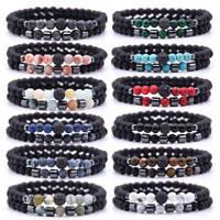New Charm Natural Stone Men Bracelet Micro Pave CZ Ball Bracelet Fashion Jewelry