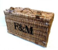 Lovely Small Fortnum & Mason F&M Hamper Wicker Picnic Storage Present Basket