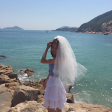 Women's Wedding Veils With Comb White Short 2 Tiers Bridal Veil 1.5 M Tulle 2019