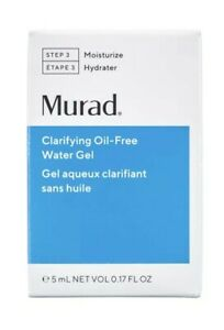 Murad Clarifying Oil Free Water Gel Travel size New in Box 0.17oz / 5ml FRESHEST