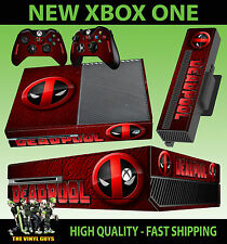 XBOX ONE CONSOLE STICKER DEADPOOL LOGO 002 MERC WITH A MOUTH SKIN + PAD SKINS