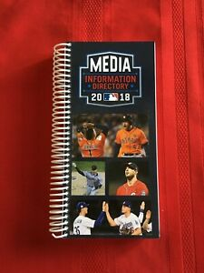 2018 MLB Major League Baseball Media Directory guide / Day-by-day schedules