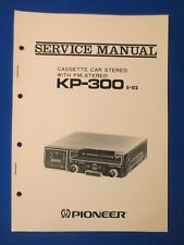 Pioneer KP-300 Cassette Service Manual Factory Original The Real Thing
