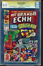 NOT BRAND ECHH #5 CGC 8.5 WHITE SS STAN LEE SIGNED 1967 SILVER AGE  #1038708013