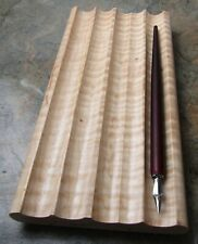 HANDMADE  CALLIGRAPHY PEN TRAY / STAND: NATURAL (UNSTAINED) CURLY MAPLE