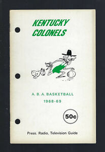 VINTAGE 1968-69 ABA KENTUCKY COLONELS MEDIA PRESS GUIDE YEARBOOK