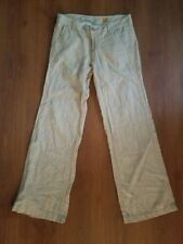 Pilcro and the Letterpress No. 04 Anthropologie Linen Pants Tan Beige Cream