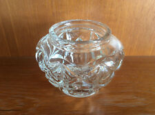 Vintage Clear Pressed Glass Pot, Dish or Vase, 1930s-1960s?