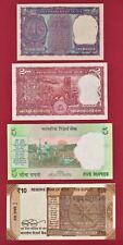 1 Rupee 1974 (P-77o), 2 Rps 1965-82 (P-52), 5 Rps 2009 (P-88) & 10 Rps Star 2017 0000068E