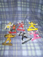 "1993 Mighty Morphin Power Rangers MMPR Ranger 3"" Mini Figure PVC Vintage lot 7"
