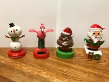 Solar Powered Dancing Bobble Head Toy New for 2019 - Set Of 4 CHRISTMAS
