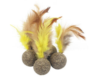 solid catnip ball with feather cat toy up to 50% off