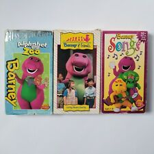 Barney & Friends Caring Means Sharing Time Life Alphabet Zoo & Songs VHS Tested