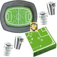 Fußball Kicker Party-Set 34tlg. für 6 Personen Teller Becher Servietten