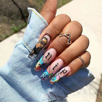 3D Nail Art Letter Sticker Nail Decal Laser Words Character Nail Stickers Decals