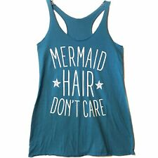 Next Level teal Mermaid Hair Don't Care tank small