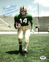 JOHNNY LATTNER SIGNED 8x10 PHOTO + HEISMAN + ALL AMERICAN + CFHOF PSA/DNA