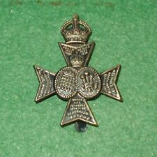 16TH LONDON REGIMENT BLACKENED BRASS CAP BADGE