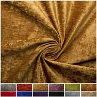 LUXURY PLUSH CRUSHED SATIN VELVET SUPER SOFT HEAVY WEIGHT UPHOLSTERY FABRIC