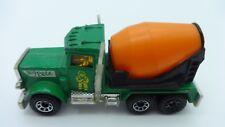 """Matchbox #19 Green Peterbilt Cement Mixer Truck """"Big Pete"""" - Loose & Clean"""